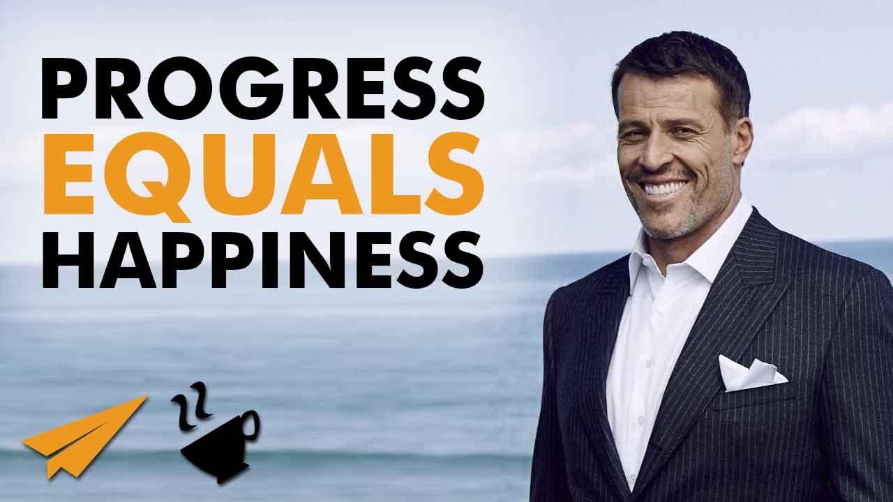 Progress-equals-HAPPINESS-Tony-Robbins-@TonyRobbins-Entspresso